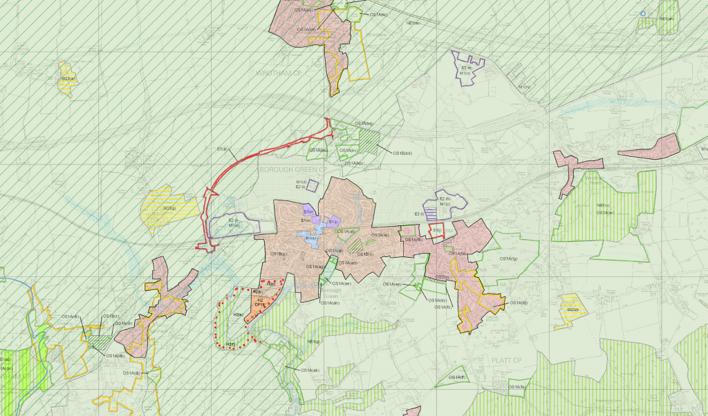 Tonbridge and Malling Borough Council Proposal map